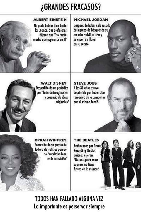 fracasos